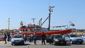 Auf Lampedusa beschlagnahmen die italienischen Behörden die