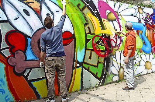 Nach der Hall of Fame in Bad Cannstatt soll in Vaihingen eine weitere Fläche entstehen, auf der Jugendliche legal Graffiti sprühen dürfen. Foto: Ursula Vollmer