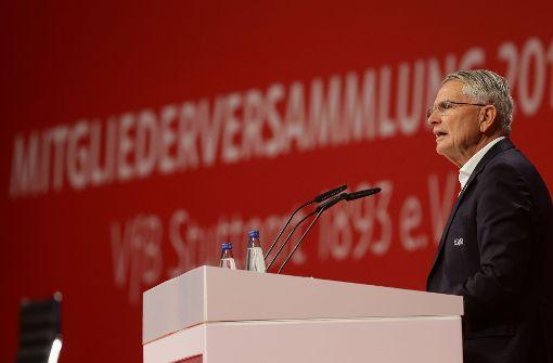 VfB-Präsident Wolfgang Dietrich. Foto: Pressefoto Baumann