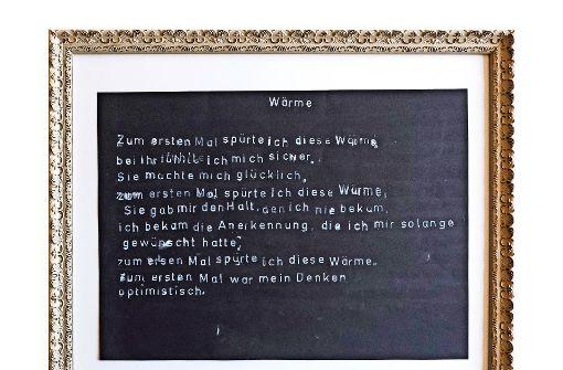 Das Mädchen, das dieses Gedicht verfasst hat, ist 15 Jahre alt und besucht der Albert-Schweitzer-Schule. Foto: Lichtgut/Achim Zweygarth