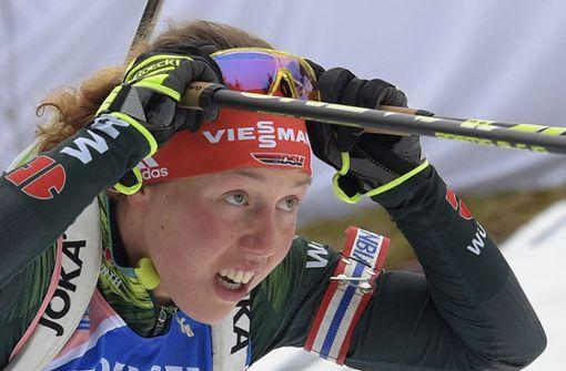 bBiathlon: /bLaura Dahlmeier war die Überfliegerin 2017 im Damen-Biathlon.  Foto: AP