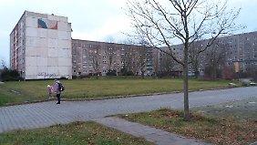 Nur noch eine Handvoll Menschen wohnt in dieser Platte am Rande von Wolfen-Nord.