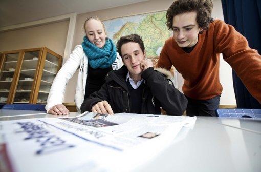 Sophie Wende, Clemens Horn und Richard Boell (von links) machen sich Gedanken um ihre Zukunft Foto: Peter Petsch