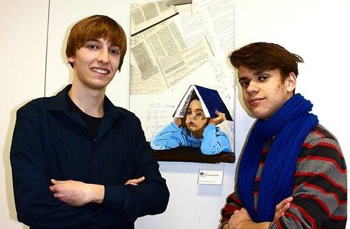 Jonathan Winkler (links) und Konrad Storch vom Jugendrat Nord haben den Wettbewerb mit organisiert Foto: Annina Baur